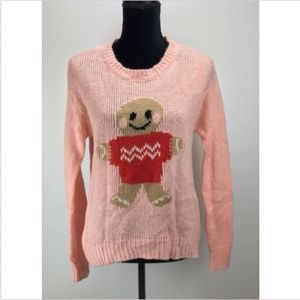 Jolt Pullover Knit Sweater Size S Gingerbread Man